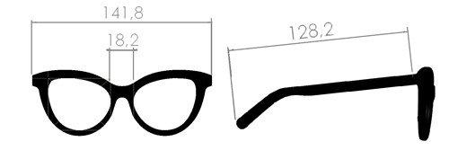Misure occhiale Enrosadira