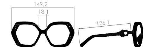 misure occhiali esagonali Hexa