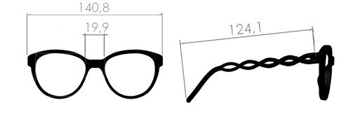 Misure occhiale Intreccio