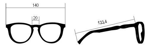 Misure occhiale Abete Rosso