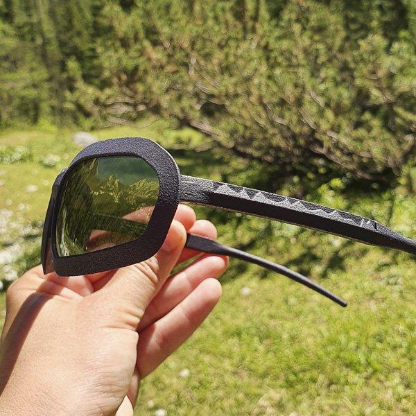 occhiali stampati in 3d - particolare modello Popera