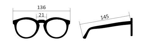 misure occhiali bio Vega scuro