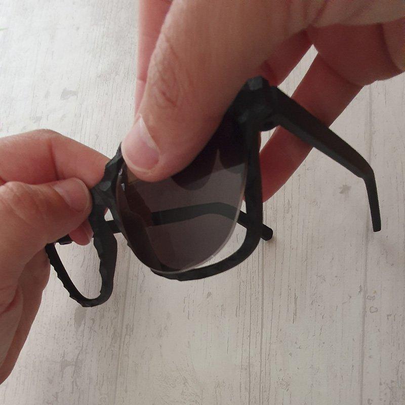 Azienda sostenibile - occhiale stampato in 3D