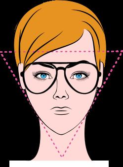 viso a forma triangolare
