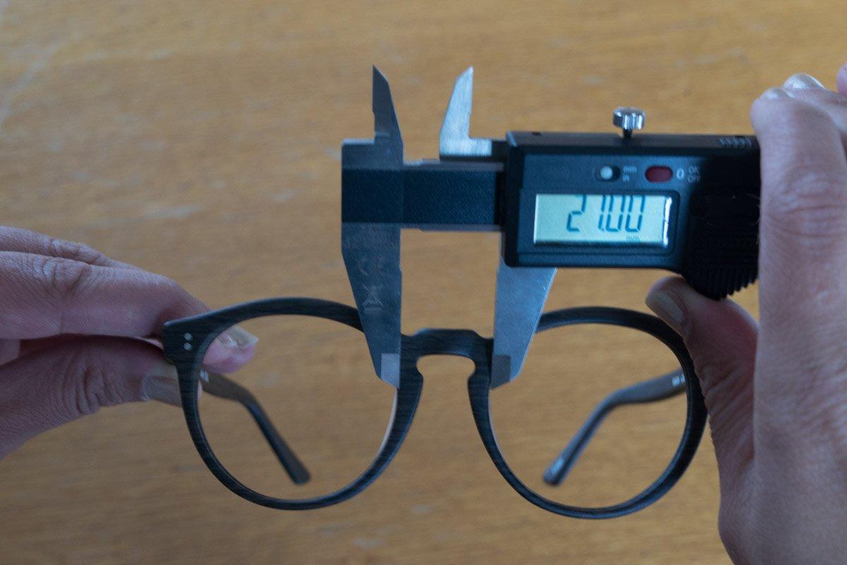 misura del ponte degli occhiali